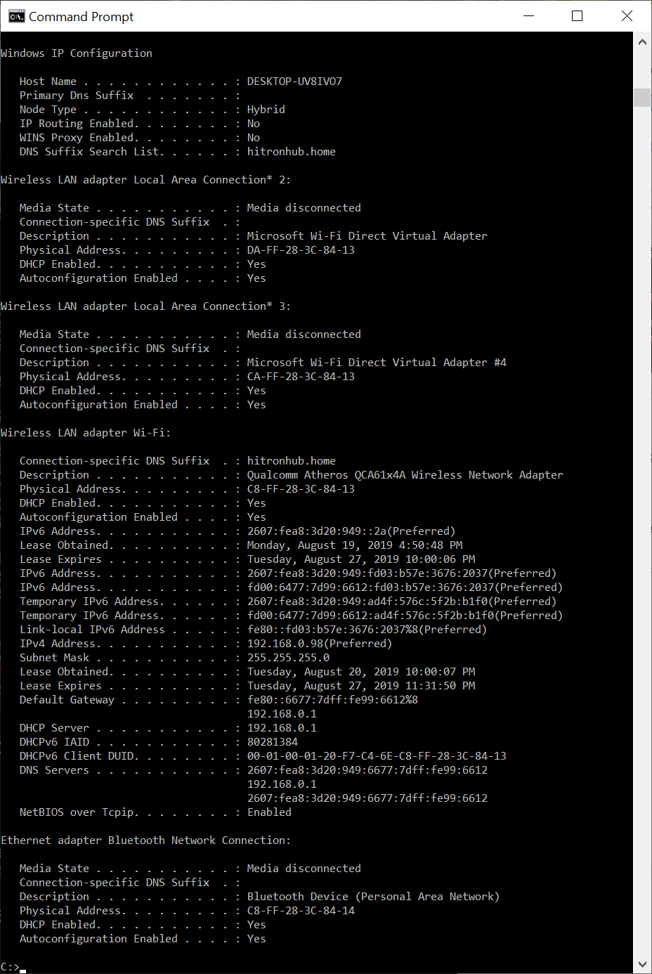 Tutorial On Ipconfig Command Line Tool To Display Network Configuration Examples