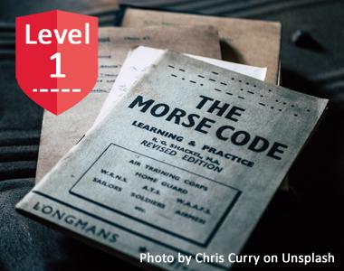 Morse Code Practice Test Level 1