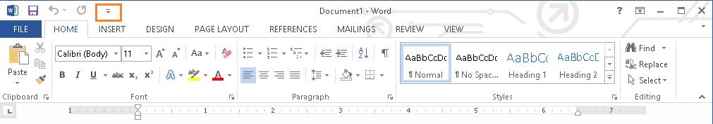 Microsoft Word Quick Access Toolbar Customize